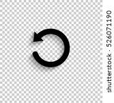 undo symbol   black vector ... | Shutterstock .eps vector #526071190
