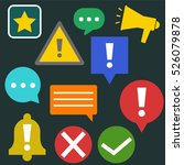 push notification icons  vector ... | Shutterstock .eps vector #526079878