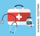 first aid or medical kit icon... | Shutterstock .eps vector #526079884
