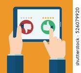 rating on customer service... | Shutterstock .eps vector #526079920