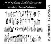 set of hand drawing wild... | Shutterstock .eps vector #526090108