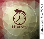 history icon. history website... | Shutterstock . vector #526092274