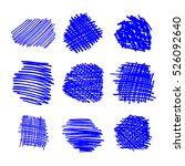 marker hand drawn grunge... | Shutterstock .eps vector #526092640