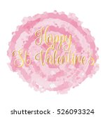 happy st valentines day card ... | Shutterstock .eps vector #526093324