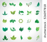 Leaf Icons Set  Vector...