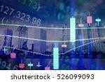 forex market background ... | Shutterstock . vector #526099093