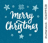 merry christmas vintage style... | Shutterstock .eps vector #526099528