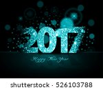 blue 2017 happy new year on the ... | Shutterstock .eps vector #526103788