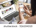 online shopping website on... | Shutterstock . vector #526104310