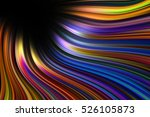 colorful wavy light trails... | Shutterstock . vector #526105873