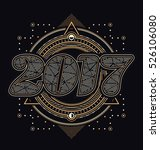 2017   calligraphic new year... | Shutterstock .eps vector #526106080