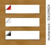 set of horizontal banner... | Shutterstock .eps vector #526109824