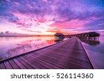 sunset landscape on maldives...   Shutterstock . vector #526114360