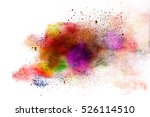 abstract powder splatted