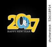 year 2017 with kalmykia flag... | Shutterstock .eps vector #526118914