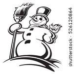 snowman | Shutterstock .eps vector #526120864