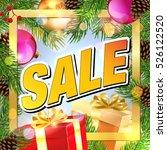 sale. christmas sale banner.... | Shutterstock .eps vector #526122520