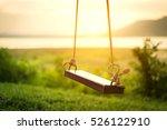 children swing in the park ... | Shutterstock . vector #526122910