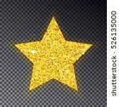 gold christmas star vector.... | Shutterstock .eps vector #526135000
