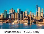 skyline of downtown new york ... | Shutterstock . vector #526137289