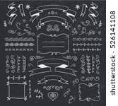 vector set of hand drawn... | Shutterstock .eps vector #526141108