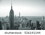 aerial view of manhattan... | Shutterstock . vector #526141144