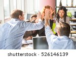 business people happy showing... | Shutterstock . vector #526146139