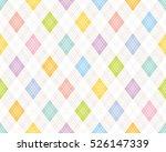 colorful argyle pattern.   Shutterstock .eps vector #526147339