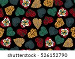 seamless pattern with love... | Shutterstock .eps vector #526152790