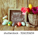 easter decoration toned photo | Shutterstock . vector #526153654