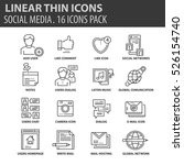 set of thin line flat icons.... | Shutterstock .eps vector #526154740