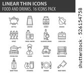 set of thin line flat icons.... | Shutterstock .eps vector #526154758