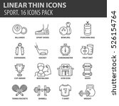 set of thin line flat icons.... | Shutterstock .eps vector #526154764