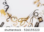 flat lay christmas or party... | Shutterstock . vector #526155223