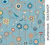 vector flower pattern. colorful ... | Shutterstock .eps vector #526156429