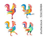 stylized image of a rooster.... | Shutterstock .eps vector #526158484