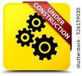 under construction  gears icon  ... | Shutterstock . vector #526159030