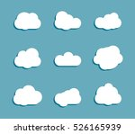 white clouds set collection on... | Shutterstock . vector #526165939