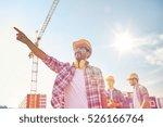 business  building  teamwork... | Shutterstock . vector #526166764