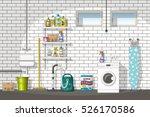 illustration of interior... | Shutterstock .eps vector #526170586