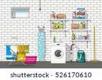 illustration of interior... | Shutterstock .eps vector #526170610