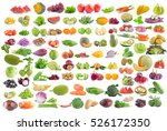 fruit and vegetable isolated on ... | Shutterstock . vector #526172350
