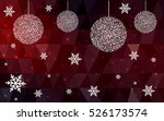 dark red christmas postcard low ... | Shutterstock .eps vector #526173574