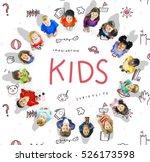 imagine kids freedom education...   Shutterstock . vector #526173598