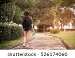 woman working on the park with... | Shutterstock . vector #526174060