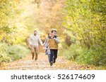 beautiful young family on a... | Shutterstock . vector #526174609