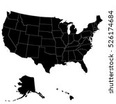 map of the united states of... | Shutterstock .eps vector #526174684