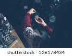 from above view of woman in... | Shutterstock . vector #526178434