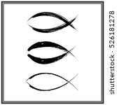 christian fish symbol. vector | Shutterstock .eps vector #526181278