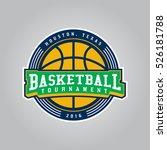 basketball tournament logo.... | Shutterstock .eps vector #526181788